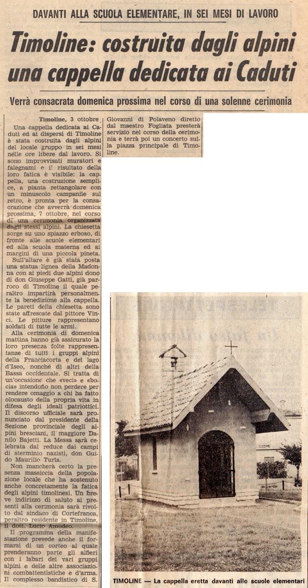 Giornale di Brescia 4 Ottobre 1973
