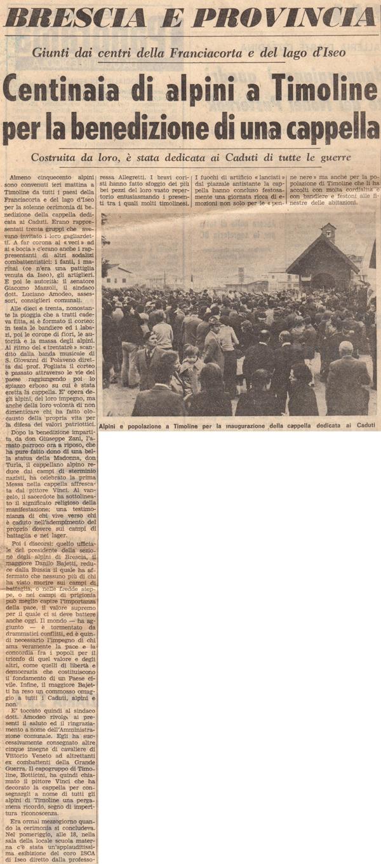 Giornale di Brescia 8 Ottobre 1973